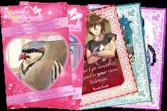 Valentinskarten kostenlos zum Ausdrucken