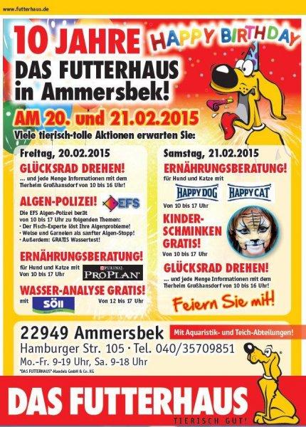 20.2-21.2 Futterhaus Ammersbek bei Hamburg diverse Aktionen