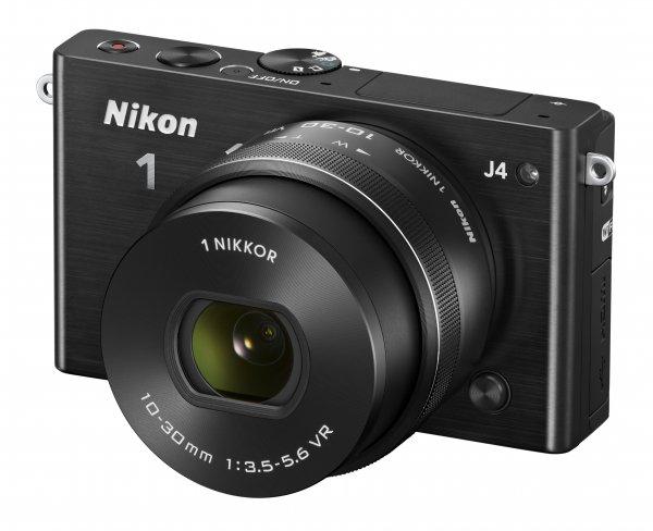 Nikon 1 J4 Systemkamera mit Nikkor VR 10-30mm Objektiv und WiFi für nur 299€ inkl. Versand
