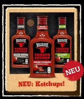 (evtl. Lokal HH) Bull's Eye Ketchup & BBQ Sauce 425-525ml für 0,99 Euro. [REWE]