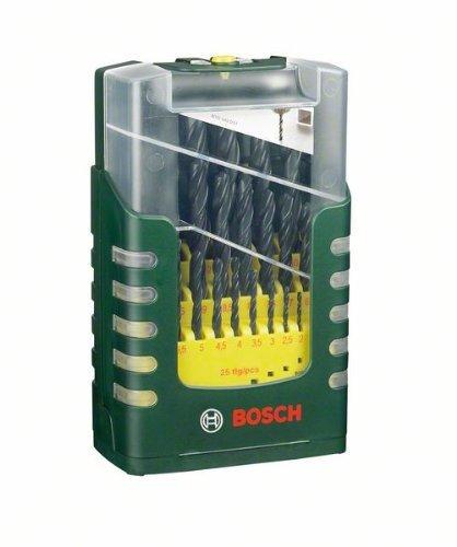 (amazon.de-Blitzdeal)Bosch 25-teiliges HSS-R-Metallbohrer-Set, Ø 1-13 mm für 23,90€