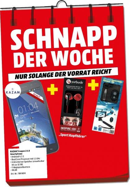 [Lokal MM Porta Westfalica/Schnapp der Woche] Kazaam Trooper 2/5.0 + Yurbuds Inspire 100 Kopfhörer+Selfi Stick mit BT Auslösung für 79,-