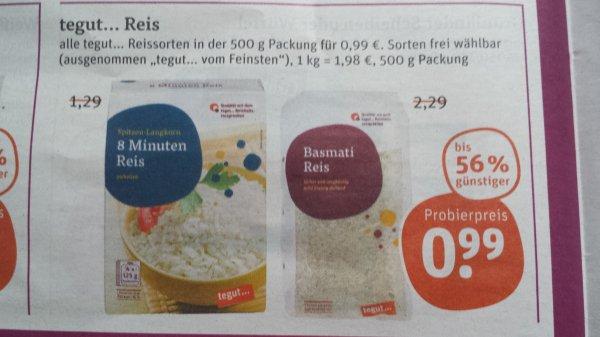 [TEGUT] Basmati Reis 500g für nur 0,99 Euro (16.02 - 21.02)