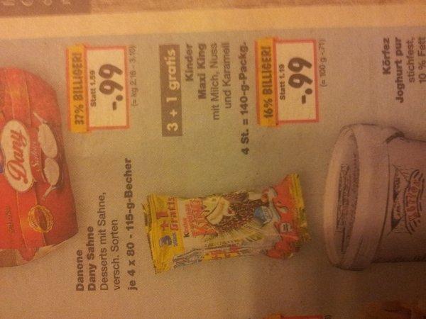 [Kaufland] KW08 Kinder Maxi King (3+1) für 0,99€