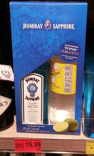 [lokal Bonn - Edeka Mohr] bombay Saphire gin + 1l Schweppes Tonic 15,99€