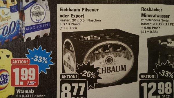 [Lokal] Hit weinheim Eichbaum Export für 8,77 Kiste 20x0,5