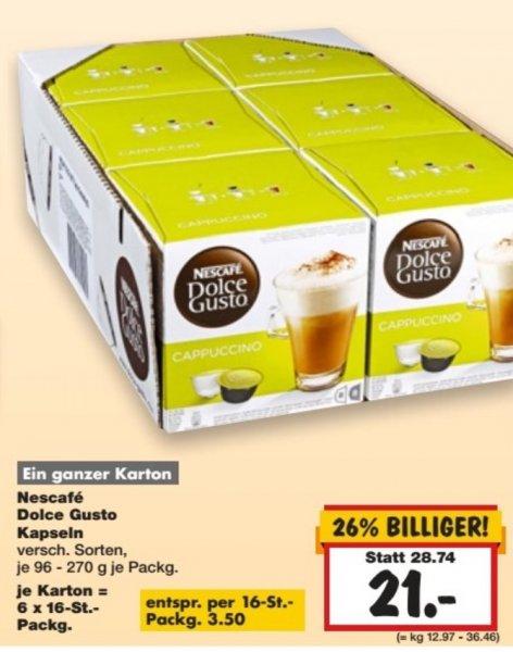 Nescafé Dolce Gusto bei Kaufland- 6 Pakete für 21€, also 3,50€ pro Packung (evtl. lokal Dallgow-Döberitz bei Berlin)