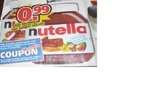 (Lokal Aschaffenburg) Nutella 450gr Glas für 0,99 Euro bei Möbel Kempf