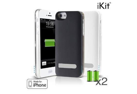 [Update günstiger - 3% Qipu] iKit NuCharge Akkuhülle mit Alucover oder Cover in Lederoptik für iPhone 5/5S zum Preis von 19,99€ frei Haus @DC