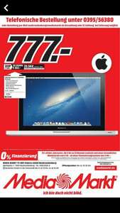 "[Lokal - MM Neubrandenburg] Apple MacBook Pro13.3"" - Core i5-3210M, 4GB RAM, 500GB HDD (MD101D/A) [Mid 2012]"