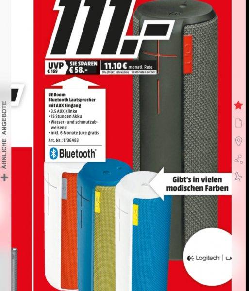 Ultimate Ears UE Boom Bluetooth Lautsprecher für 111€ (MM Mannheim)