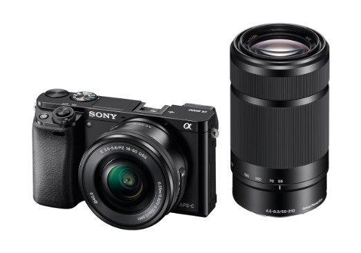 Sony Alpha 6000 inkl. SEL 16-50+55-210 Objektive für 789€ (vgl. 885€)