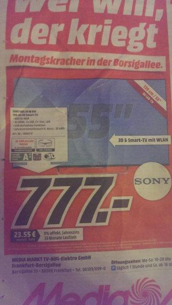 (Lokal FFM) Sony KDL 55 W 815 B bei Media Markt