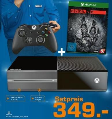 Xbox One + Evolve für 349€ bei Saturn