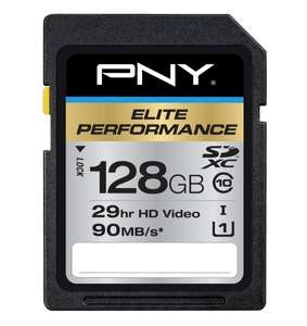 PNY 128GB Elite Performance SDXC Class 10 (90MB/s) für 58,40€ bei Amazon.com