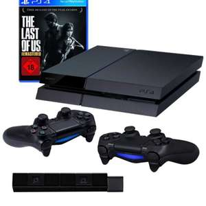 Amazon: PlayStation 4 - Konsole inkl. The Last of Us Remastered + 2 DualShock 4 Wireless Controller + Kamera WAREHOUSE-DEAL