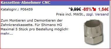 [Raddiscount] Zahnkranzabzieher für Shimano HG & Centerlock Bremsscheiben !! max. 5 pro Kunde !! Fahrradwerkzeug
