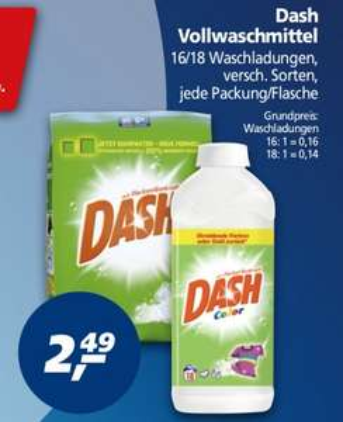 [Real] Dash (Waschmittel) 1,12€/ Stück (Angebot + Pb-Coupon) ab 23.02.15