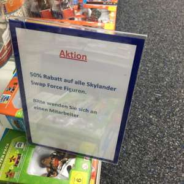 [Lokal Saturn LB] 50% auf Skylander Swap Force Figuren