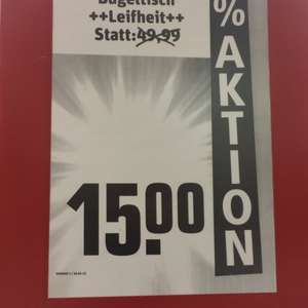 (Lokal Hamburg) Leifheit Bügelbrett Classic M Plus