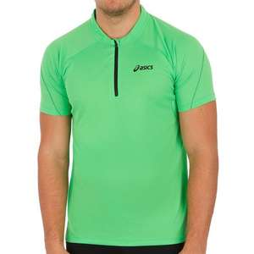 Asics Mile Shortsleeve 1/2 ZipTop Herren in grün für 17,85 € // ab 29€ Bestellwert 13,90 € // (Idealo: 24,47 €)