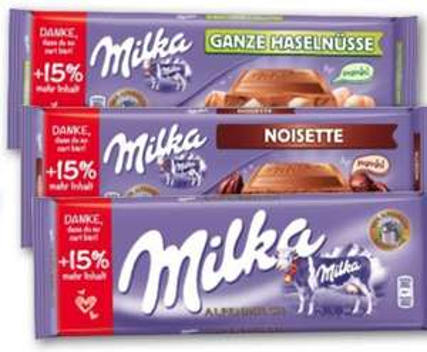(Kaufland) Milka Scholkolade statt 0,99 Euro für 0,69 Euro und 15 Gramm gratis !