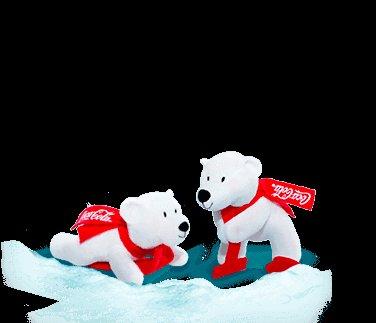 Coke.de Eisbären Finn und Emma Freirubbeln