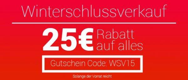 25 € Winterschluss RABATT auf ALLES  bei asgoodasnew.com