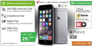 Iphone 6 für 718,60 € (24x29,90 + 1 €) mit Mobilcom-Debitel Flat 4 You