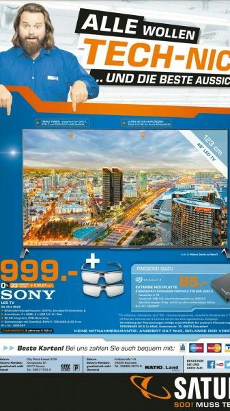 *Sammel Deal* (Lokal Saturn Kassel / Baunatal) z.B. Galaxy S3 mini 99€, Galaxy S5 399€ + 50€ Gutschein, Sony KD-49X8505 UHD-4K 3DTV 999€