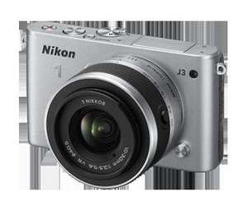(lokal) Nikon 1 J3 Kit mit 10-30 mm Zoom-Objektiv, silber/schwarz