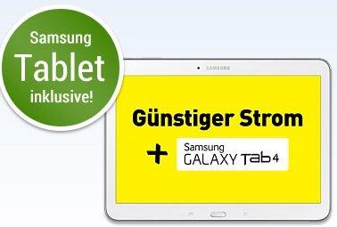[Web.de] 2 Jahre Yello ÖkostromTarif incl. Samsung Galaxy Tab 4 10.1  weiß