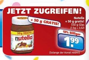 [lokal] Toom Getränkemarkt Nutella