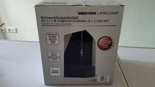 Medion (MD 86783) NAS Netzwerkfestplatte 2x2 TB = (4TB) ALDI Nord (Lokal) Bochum Bessemer Straße