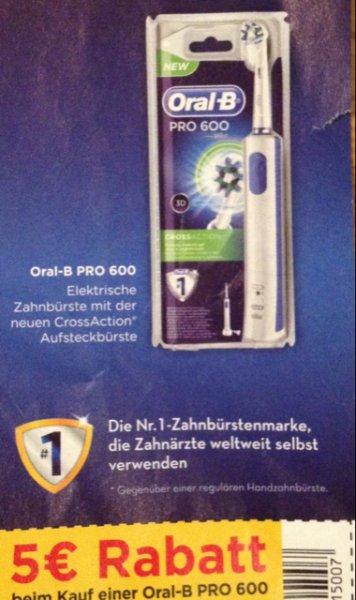 5€ Rabatt beim Kauf einer Oral-B PRO 600