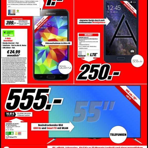 Samsung Galaxy A3 250€ (Media Markt Trier Lokal)