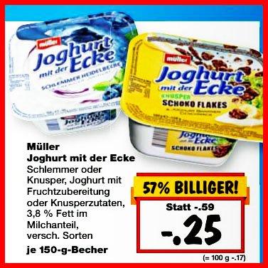 Joghurt mit der Ecke für nur 25 Cent von Müller ab 26.2 [Kaufland bundesweit]