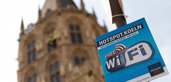 (Lokal) Köln : Gratis-WLAN wird ausgebaut - 100 zusätzliche Antennen