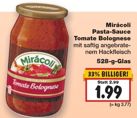 [KAUFLAND OWL evtl. Bundesweit] Mirácoli Pastasauce für 1,99€ (0,99€ mit Coupon) KW9 (23.02.-28.02.2015)