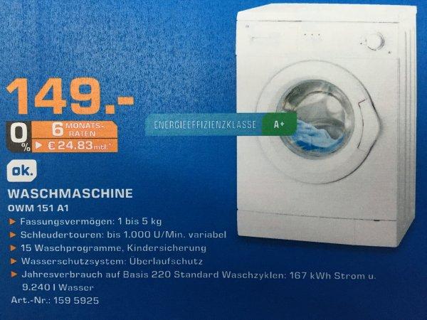 [Lokal] OK. OMW 151 A1 Waschmaschine für 149€ im Saturn Berlin Köpenick/Zehlendorf