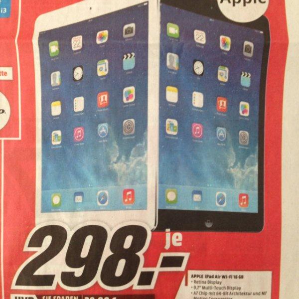 [Lokal Mediamarkt Plauen] Apple iPad Air 16GB Wifi
