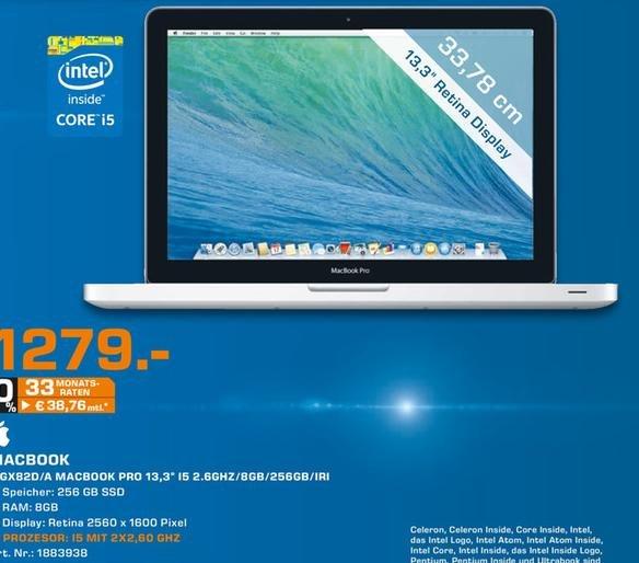 "Lokal Saturn Bochum,Witten&Hattingen - MacBook pro Retina 13"" (MGX 82 D)"