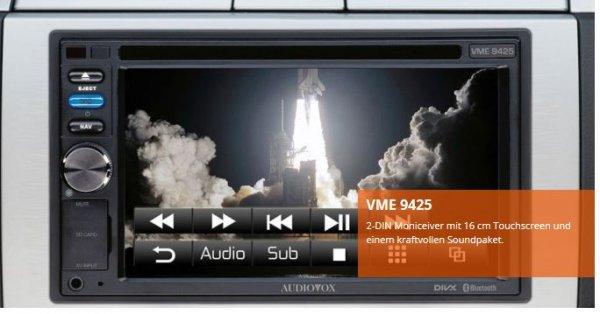 Audiovox VME 9425 TS -  2 DIN Multimedia-Receiver fürs Auto - 189 € inkl. Versand bei Saturn.de