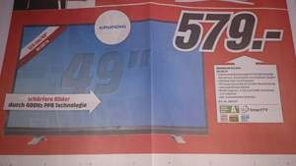 [Lokal Mediamarkt Sinsheim und Mosbach] GRUNDIG 49 VLE 8471 für 579,-€