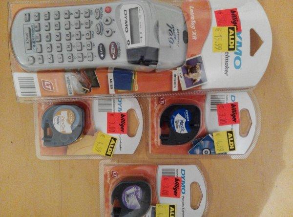 (Lokal: Aldi Nord Dresden Laubegast) Dymo LetraTag XR Labelmaker 10 €/ Ersatzbänder 3 €