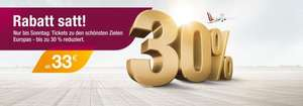 Germanwings Flüge ab 16,99 € inkl. Steuern und Gebühren - Zeitraum: Bis Oktober