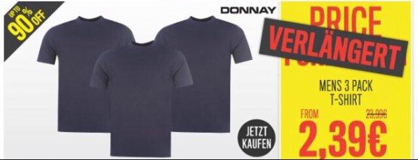 3x Donnay T-Shirt für 2,39€ zzgl. 7€ Versand @ sportsdirect.com