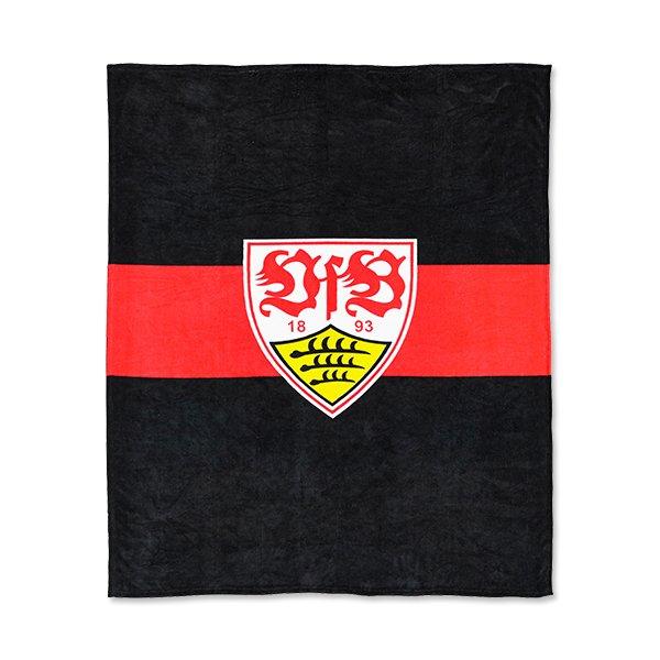 VfB Stuttgart Fleecedecke Auswärtsspiel