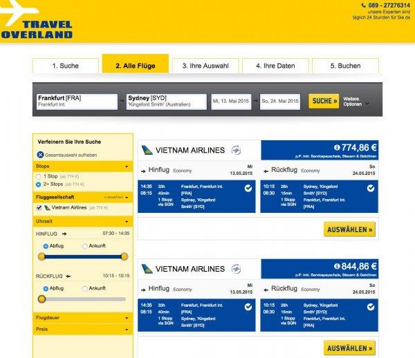 Flüge nach Sydney für 770 €