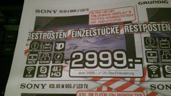 [Lokal] Sony KD65x9005 für 2999€